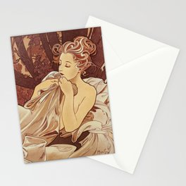 Alphonse Mucha Illustration Stationery Cards