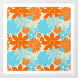 Summer Garden Goldfish  Art Print