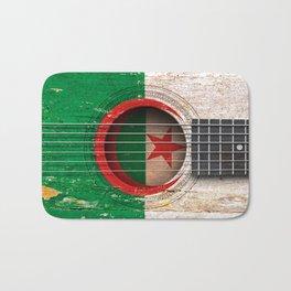 Old Vintage Acoustic Guitar with Algerian Flag Bath Mat