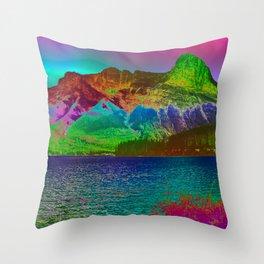 Rainbow Mountains Throw Pillow