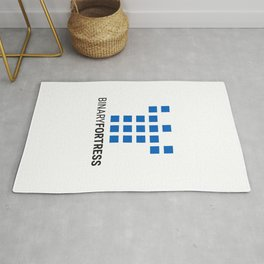 Binary Fortress Software (blue logo) Rug