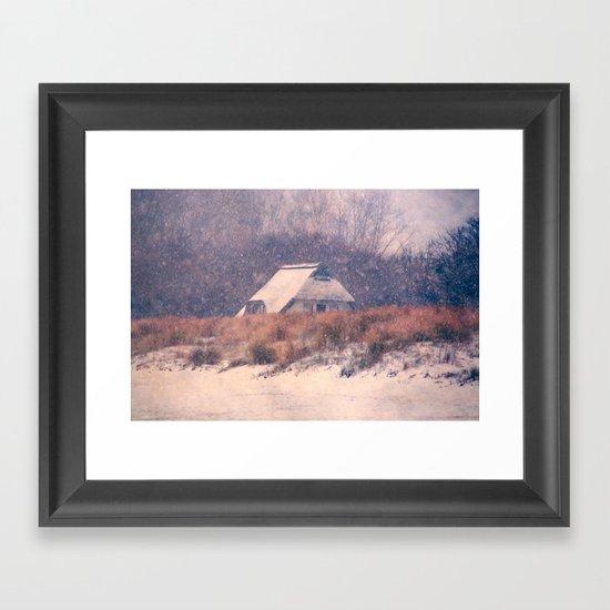 Snowhouse Framed Art Print