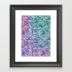 Tangle Pattern #002 Framed Art Print