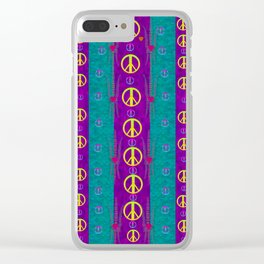 Peace be with us in this wonderful year in true love Clear iPhone Case