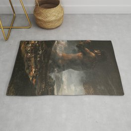 Francisco Goya The Colossus The Giant El Coloso Rug