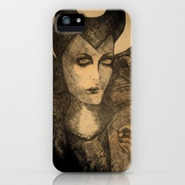 maleficent sketch iPhone Case