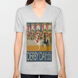 Vintage poster - Derby Day Unisex V-Neck