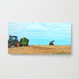 Making Hay Rolls Metal Print