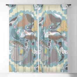 Seal Mandala Sheer Curtain