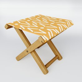 Modern Bold African Yellow Tribal Marking Folding Stool