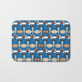 Baseball Blue and Orange - Super cute sports stars Bath Mat