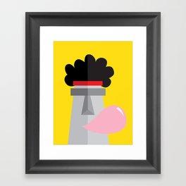 Moai back in the 70´s Framed Art Print