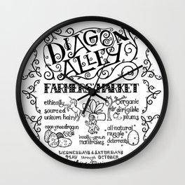 Diagon Alley Farmers' Market Wall Clock