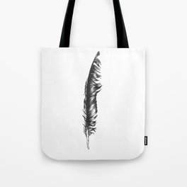 Ink Feather Tote Bag