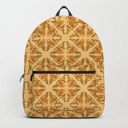 Diamond Damask on Gold Backpack