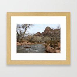 North Fork Virgin River, Zion National Park Framed Art Print