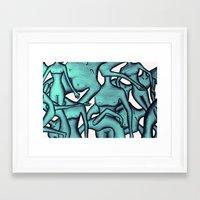 the xx Framed Art Prints featuring xx by Ela Caglar