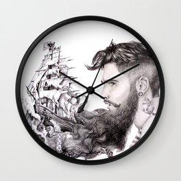 Sailor's Beard Wall Clock