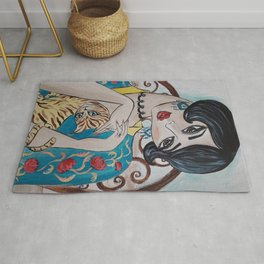 Mademoiselle and her cat Rug