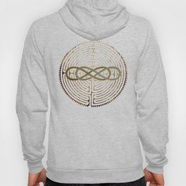Double Infinity Silver Gold antique Hoody