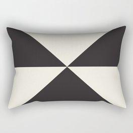 Split X Black Rectangular Pillow