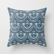 Damask Owl Pattern Throw Pillow