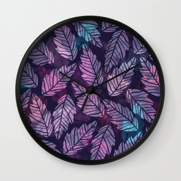 Colorful leaves II Wall Clock