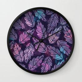 Colorful leaves II Wall Clock