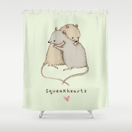 Squeakhearts Shower Curtain