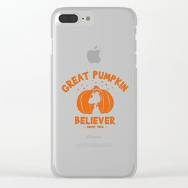Great pumpkin Believer snoopy and charlie brown Clear iPhone Case