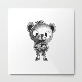 Bubble Bear Metal Print