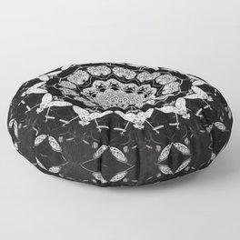Dark Moth Mandala Floor Pillow