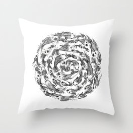 swimming in circles Throw Pillow