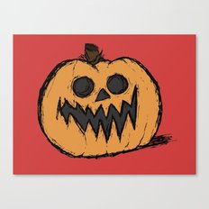 spoopy pumpkin  Canvas Print