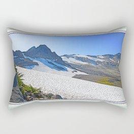 SUMMER'S LAST SNOWMELT WATER Rectangular Pillow
