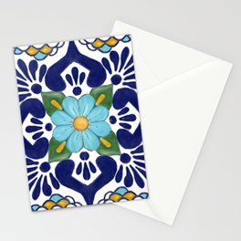 talavera tile 2 Stationery Cards
