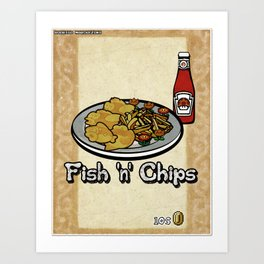Fish 'n' Chips Art Print