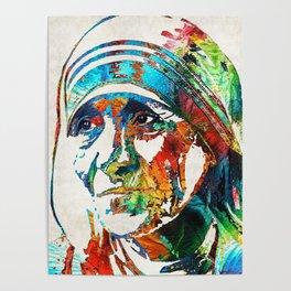 Mother Teresa Tribute by Sharon Cummings Poster