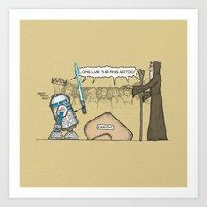 King Artoo Art Print