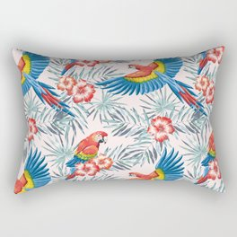 Macaw parrots in the jungle Rectangular Pillow