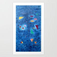 Design on blue Art Print