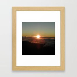 Sunrise from Mt. Haleakala Framed Art Print