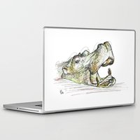 hippo Laptop & iPad Skins featuring Hippo by Ursula Rodgers