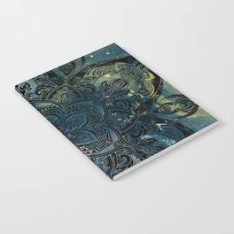 Flower mandala -night Notebook