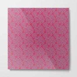 Neo Memphis Coordinate Pink Blue Metal Print