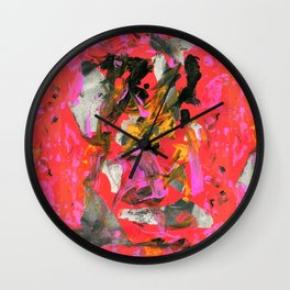 THRASHED! fuschia Wall Clock