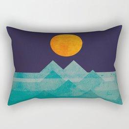 The ocean, the sea, the wave - night scene Rectangular Pillow