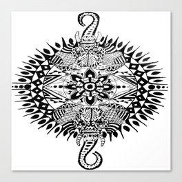 Elephant Mandala Canvas Print