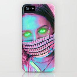 Cyber Girl Art print iPhone Case