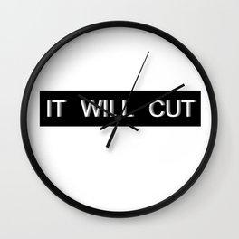 It Will Cut 2 Wall Clock